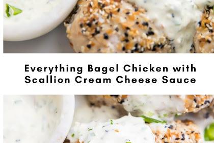 Everything Bagel Chicken with Scallion Cream Cheese Sauce