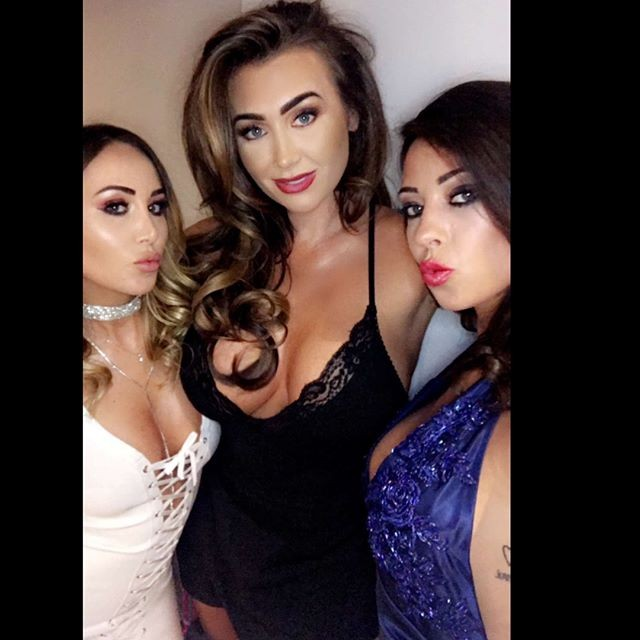 Lauren Goodger Flaunts Her Curves In a Black Dress