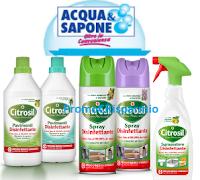 Logo Premiati con Citrosil HP e vinci 80 buoni spesa Acqua&Sapone e La Saponeria