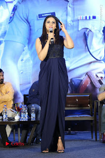 Actress Rakul Preet Singh Stills in Beautiful Blue Long Dress at Dhruva Salute to Audience Event  0064.JPG