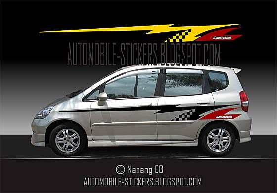 Racing Stripes Car Decals   Automobile Stickers racing stripes car decals