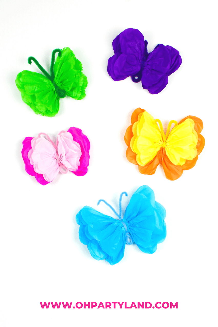 Tissue Paper Butterflies - Fun DIY