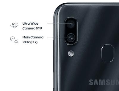 Spesifikasi Kamera Samsung Galaxy A30