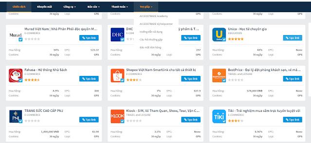 Hướng dẫn kiếm 10 triệu/tháng  với tiếp thị liên kết accesstrande
