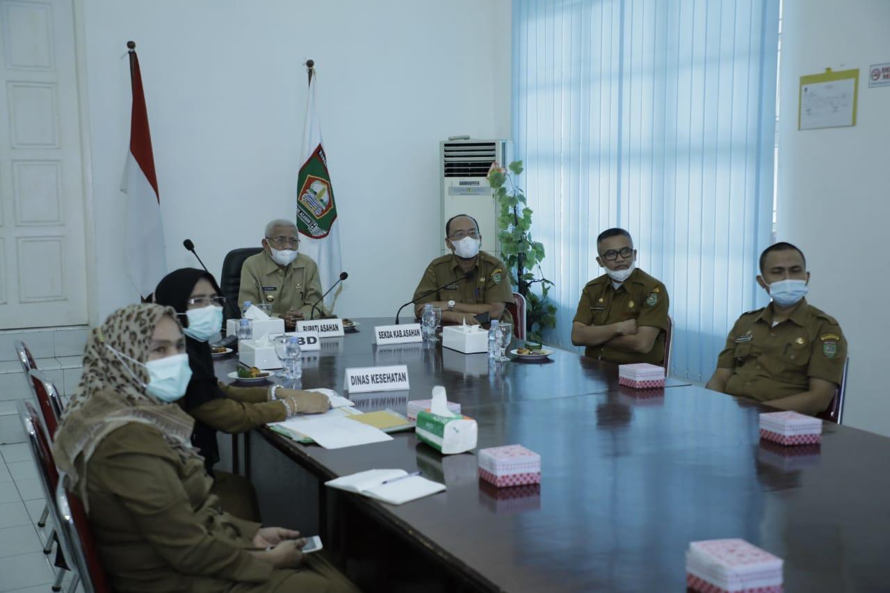 Pemkab Asahan Ikuti Rapat Koordinasi Satgas Covid-19 dengan Gubernur Sumut Secara Virtual
