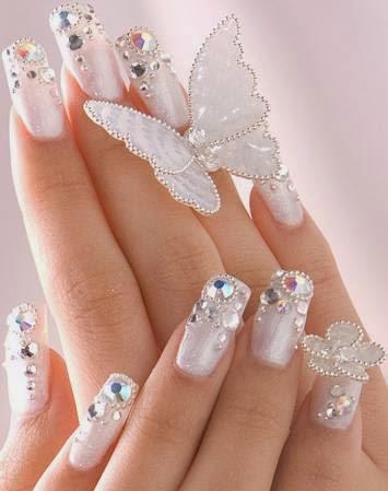 Uñas decoradas modernas - lindos diseños para boda - especiales, citas de amor, sencillas