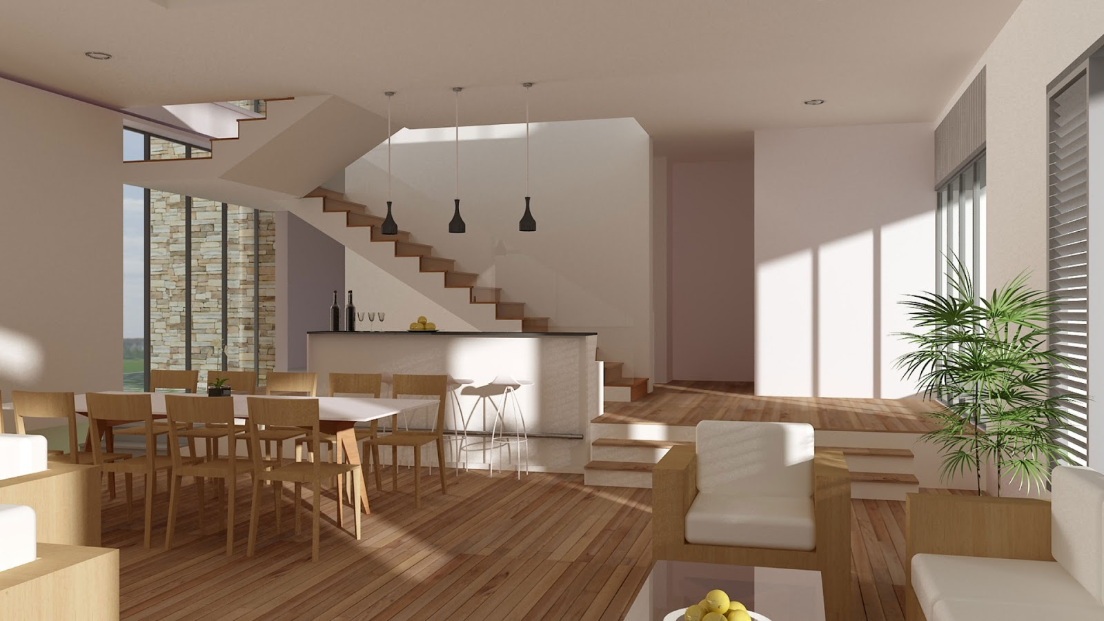 Interior Design Modern: Warm And Modern Interior Design