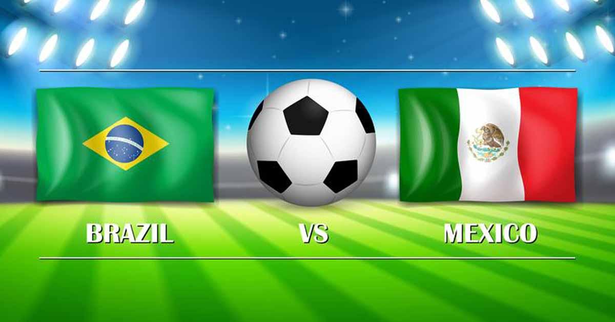 مباراة البرازيل والمكسيك اليوم