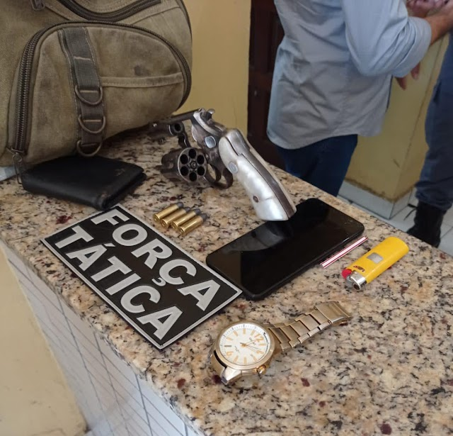 Polícia Militar realiza prisão de suspeito de praticar assaltos e apreende arma de fogo durante Operação Saturação em Caxias-MA.