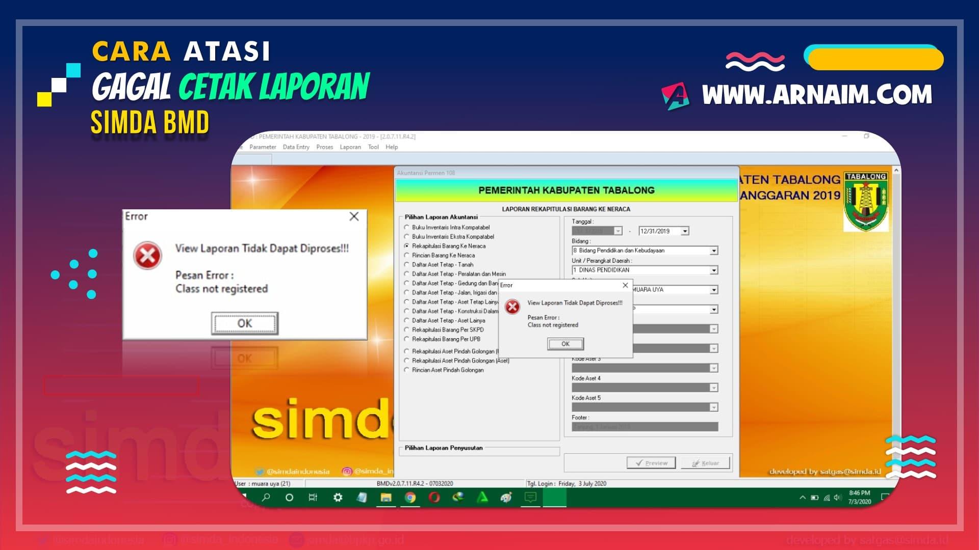ARNAIM.COM - CARA ATASI GAGAL CETAK LAPORAN SIMDA BMD (2)