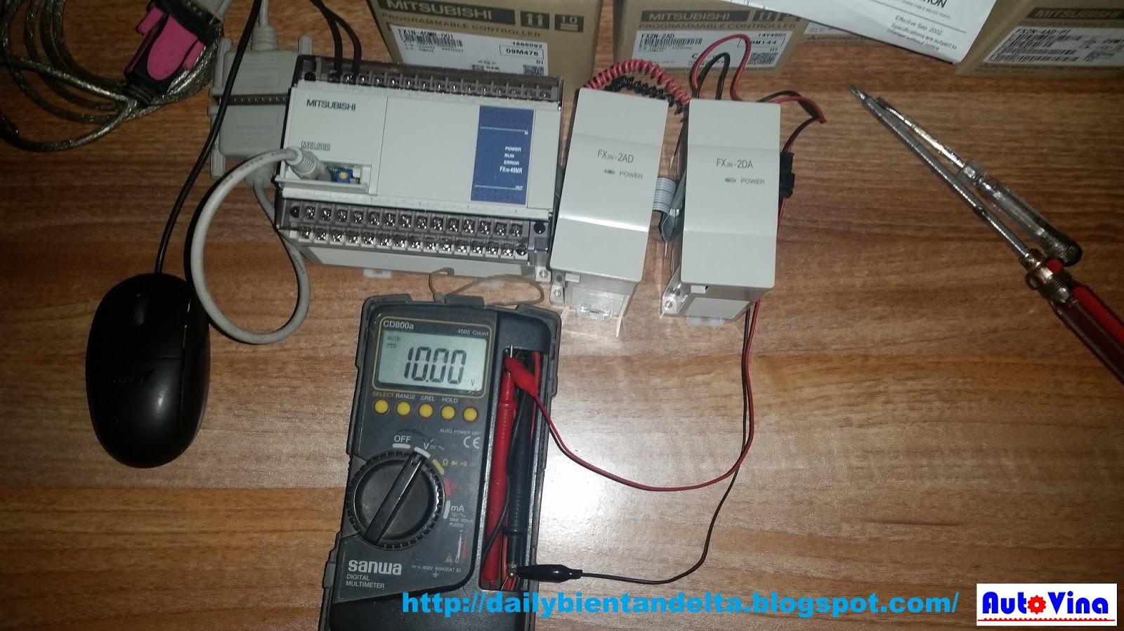 Dùng đồng hồ điện tử đo tín hiệu analog 10V