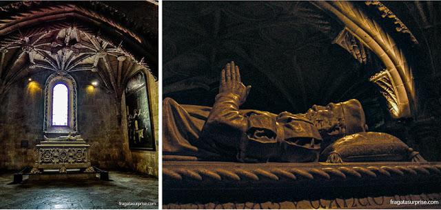 Túmulo de Vasco da Gama no Mosteiro dos Jerónimos, em Lisboa