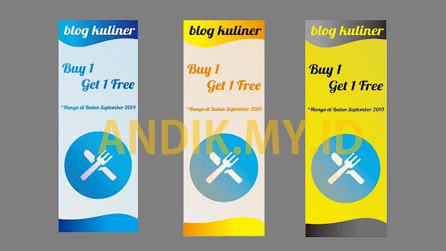 template gratis, design roll banner, design xbanner, desain gratis, promosi kuliner, template xbanner gratis, template roll banner gratis, buy 1 get 1