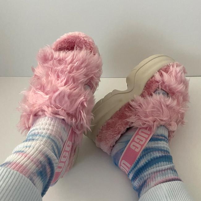 UGG Fluff Sugar platforms pink