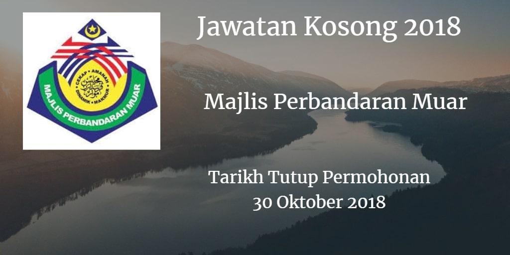Jawatan Kosong MPM 30 Oktober 2018