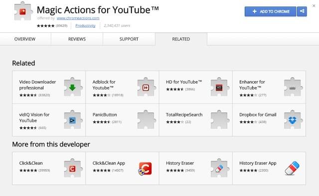 """Menggunakan """"Magic Action for YouTube"""""""