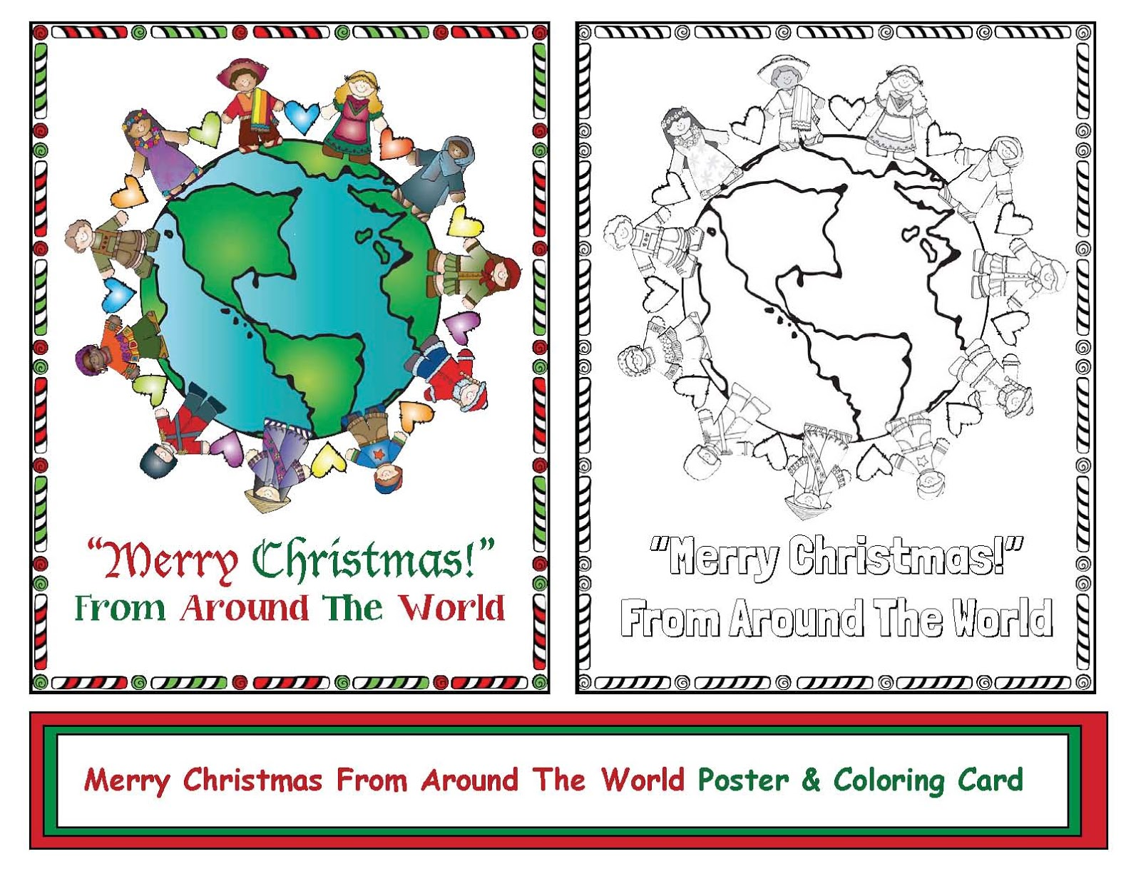 Christmas Around The World - Classroom Freebies