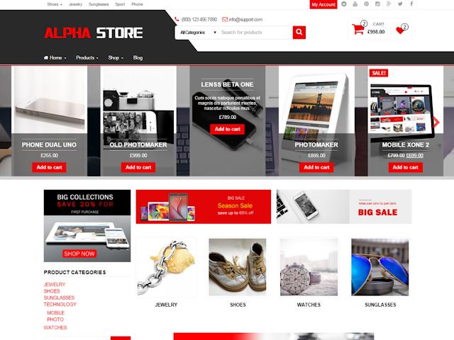 templete wordpress website bán hàng đô điện tử