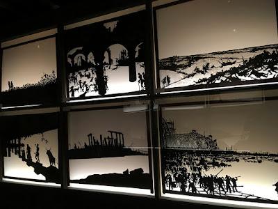 Shadow play scene by Henri Rivière exhibit in Paris