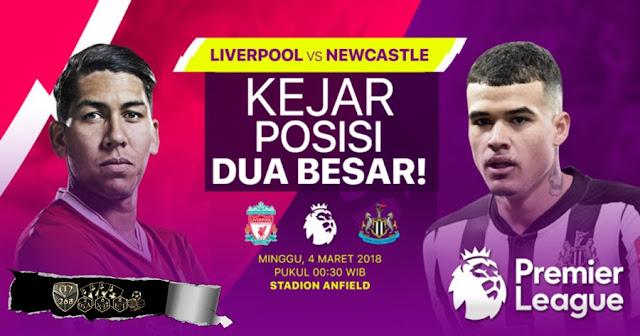 Prediksi Liverpool Vs Newcastle United, Minggu 04 Maret 2018 Pukul 00.30 WIB