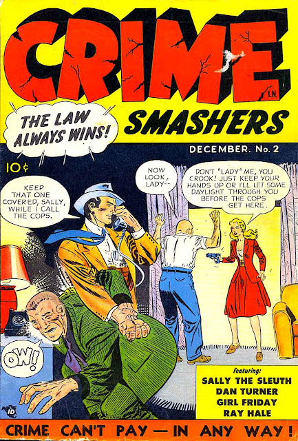 Crime Smashers #2 1950s crime comic book cover by Joe Kubert