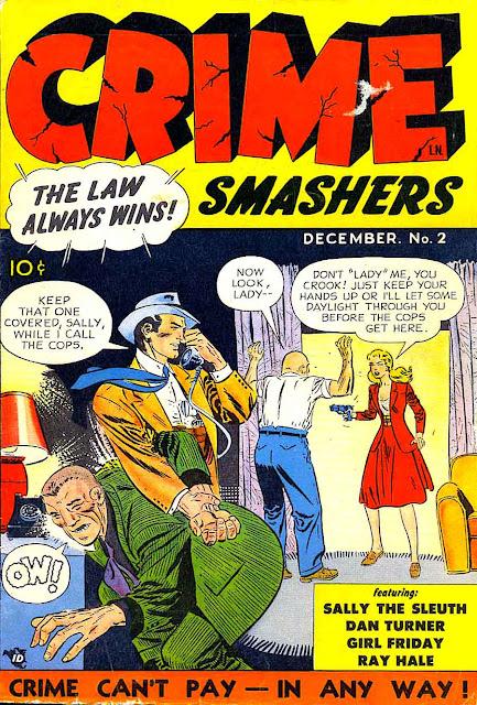 Crime Smashers #2 1950s crime comic book cover by Joe Kubert