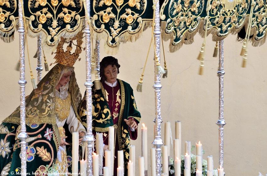 María Santísima del Dulce Nombre y San Juan Evangelista. Jueves Santo. León. Foto G. Márquez.