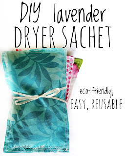 DIY eco-friendly lavender dryer sheet alternative, dryer sachet tutorial by refabulous