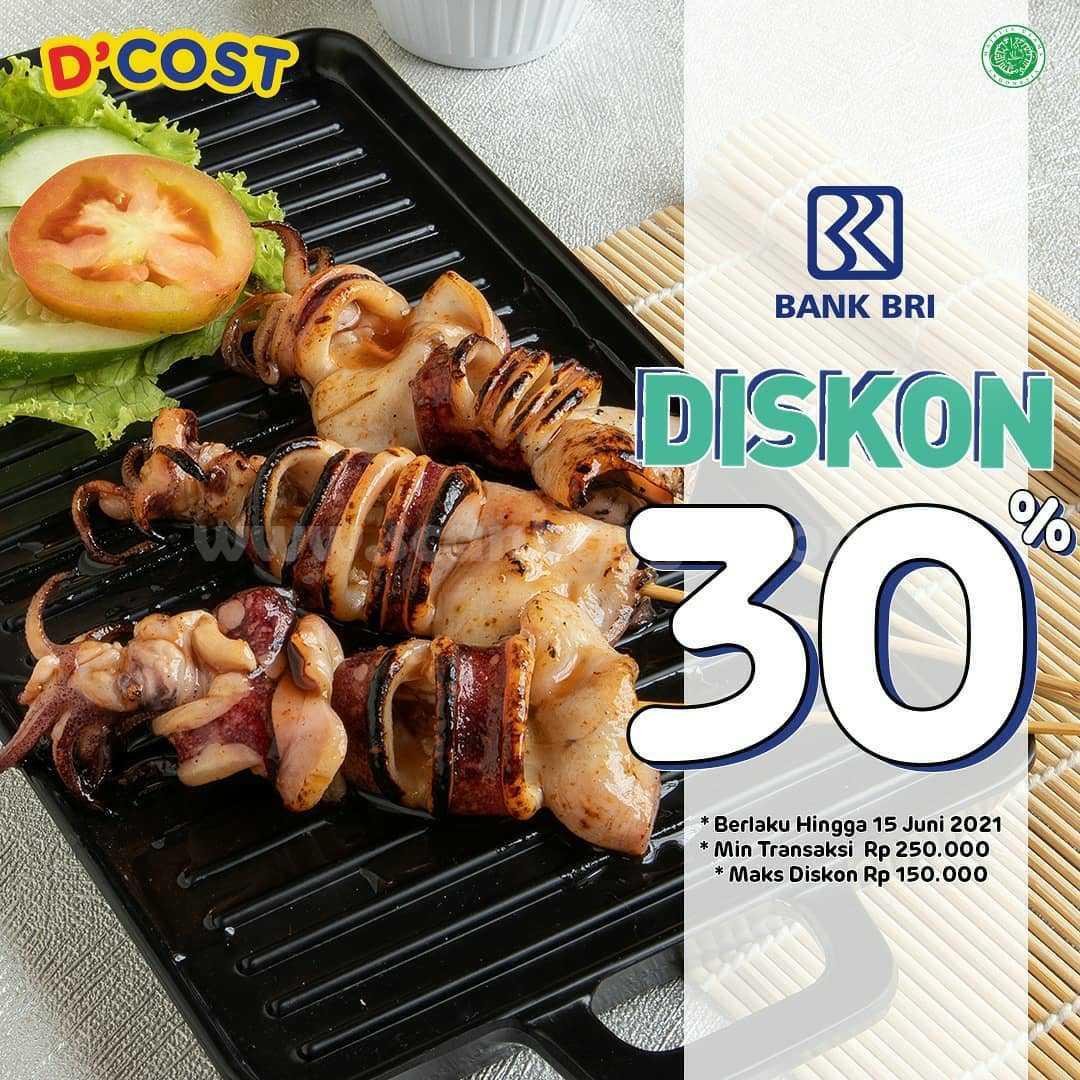 Promo DCOST DISKON hingga 30% dengan Kartu Debit BRI