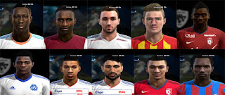 Faces: B. Mendy, Baptiste Guillaume, Batshuayi, Boufal, bouna sarr, Corentin Tolisso, Meite,  Lenny Nangis, Nabil Fekir, Sergi Darder PES 2013