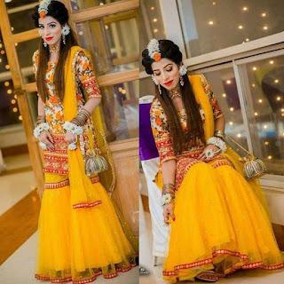 Bridal Mehndi Winter Suits