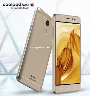 Coolpad Note 5 Rs. 10499 (HDFC Debit Cards) or Rs. 10999 – Amazon