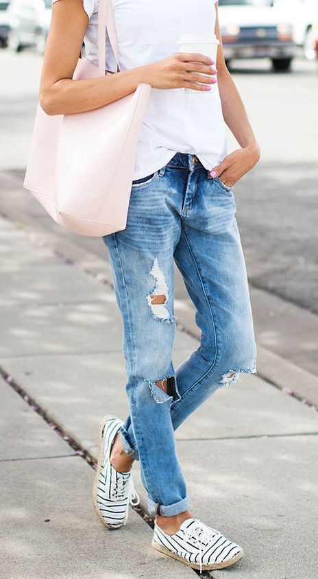 what to wear this spring: ripped boyfriend