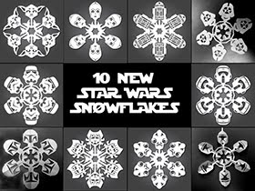 Star Wars Snowflake Templates