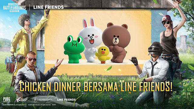 pubg mobile x line friends