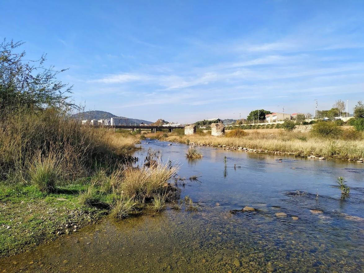 Ruins of Roman Bridge in Palancia River, Sagunto.