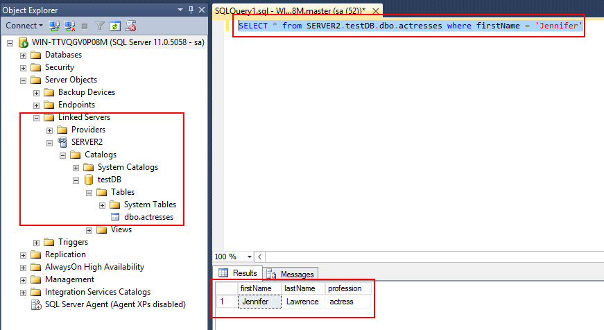 How to execute functions in a linked server (SQL Server 2012) ~ Testools