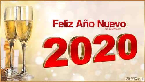 2020 feliz año nuevo copas