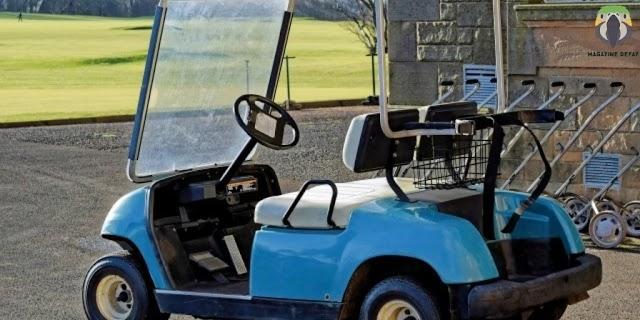 A golf cart that costs more than a Porsche and a Tesla