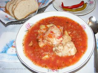 Supa de rosii cu pui retete culinare,