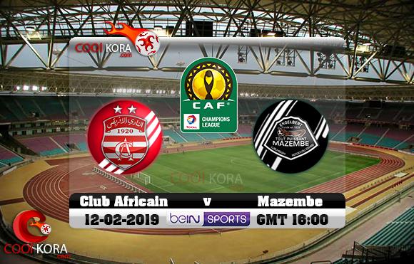 مشاهدة مباراة النادي الإفريقي ومازيمبي اليوم 12-1-2019 دوري أبطال أفريقيا