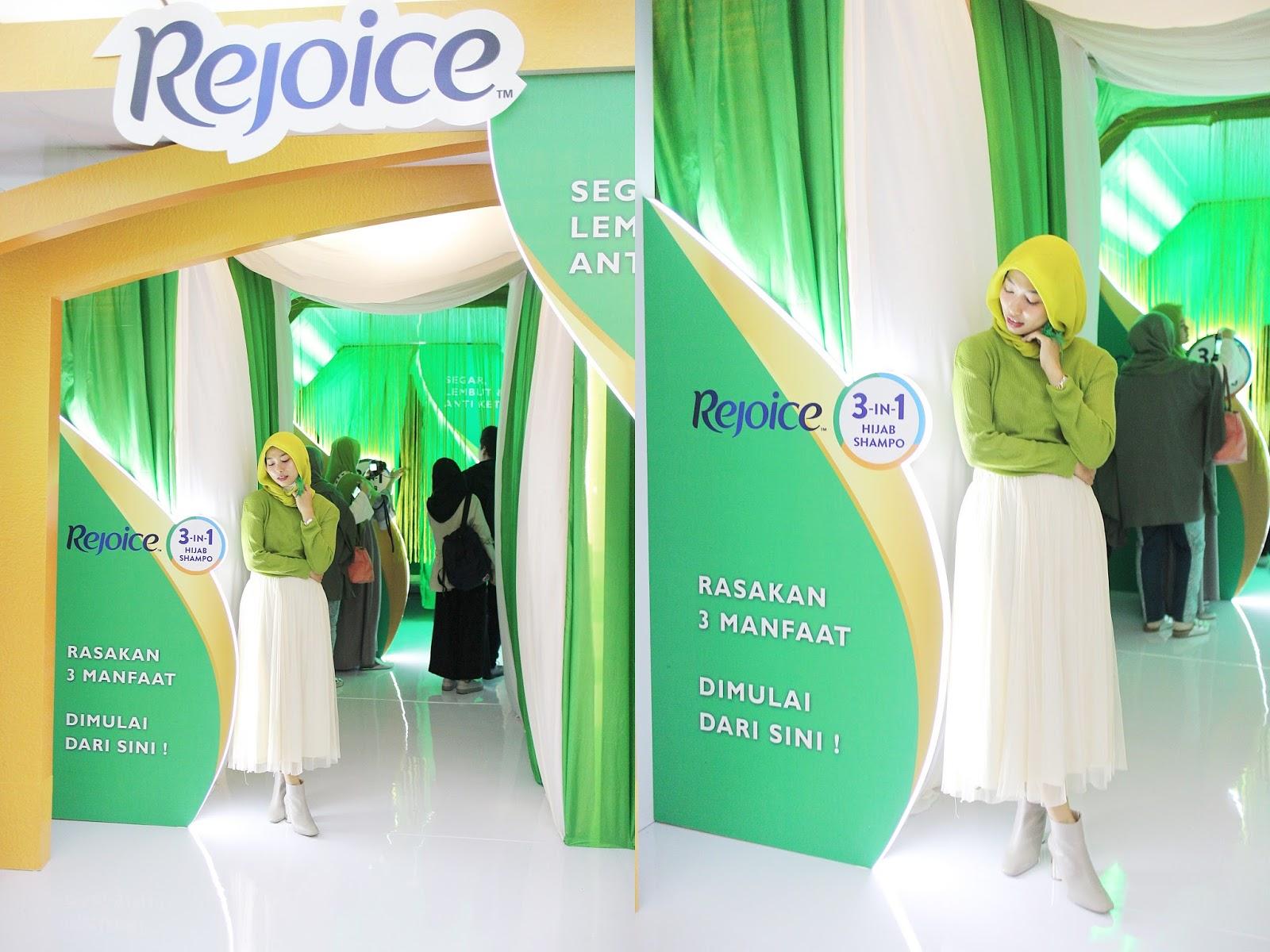 Rima Suwarjono Event Report Review Launching Rejoice Hijabisa Shampo Hijab Kami Bangga Sekali Meluncurkan Sampo Yang Didesain Khusus Untuk Masalah Rambut Menggunakan Agar Perempuan Berhijab Bisa Terus Berekspresi