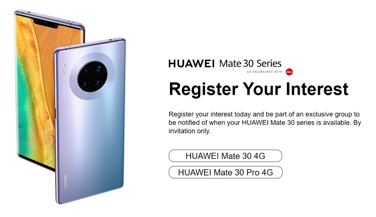Huawei Philippines Opens Registration for Mate 30 and Mate 30 Pro