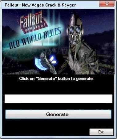 Key Generateur for all games: Fallout New Vegas Crack