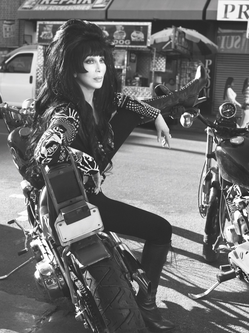 Singer Cher rocks leather in CR Fashion Book