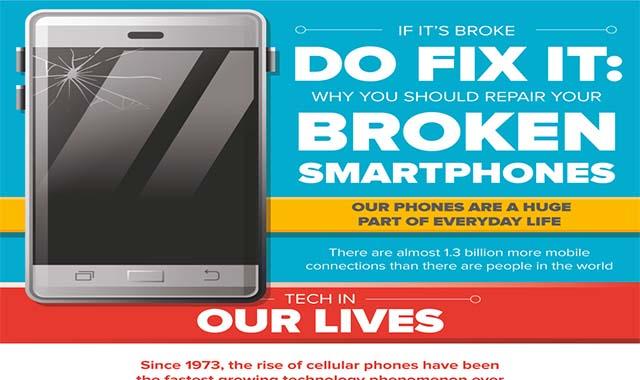 If It's Broke DO Fix It's Why You Should Repair Your Broken Smartphones #infographic