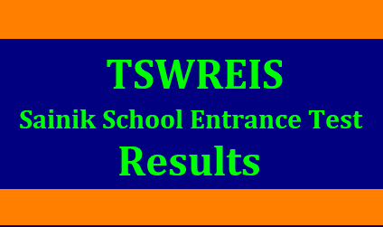 TSWREIS Sainik School Entrance Test Results 2019 TSWREIS Sainik School Entrance Test Results : (TSWRJC CET) 2019 for Inter Admissions (TSWR Sainit School Entrance Test):/2019/05/tswreis-sainik-school-entrance-test-results-tswrjc-tswrs-sainik-school-selection-list-results-download.html
