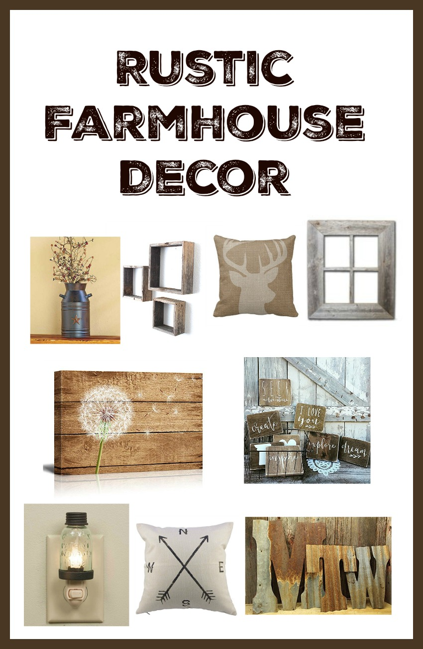 rustic farmhouse decor from amazon - Rustic Farmhouse Decor