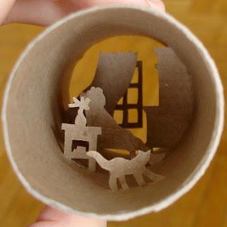 Reciclar tubos de carton de papel de baño- manualidades