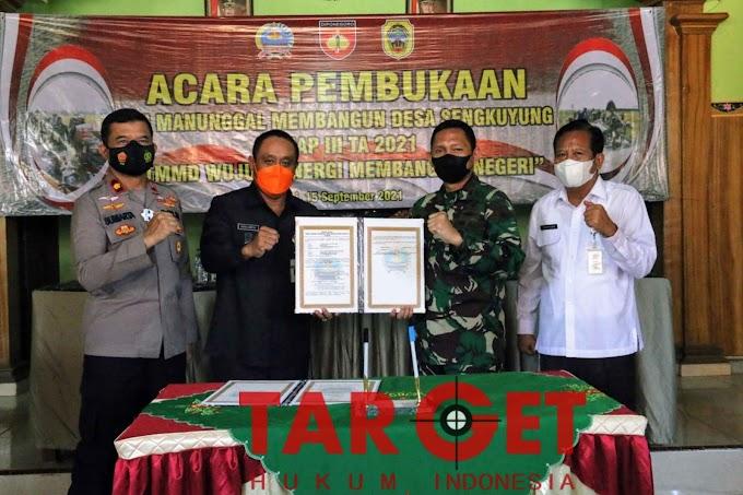 TMMD Sengkuyung Tahap III di Desa Wedusan Resmi Dibuka Oleh Wabup Safin